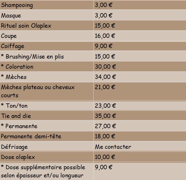 Prix coiffure à domicile Coëtmieux - Déborah22coiffureadomicile.fr